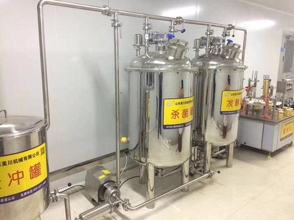 牡丹江客户采购的酸奶生产线交付使用