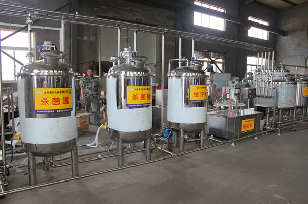 羊奶生产线中的脱气罐有什么作用?