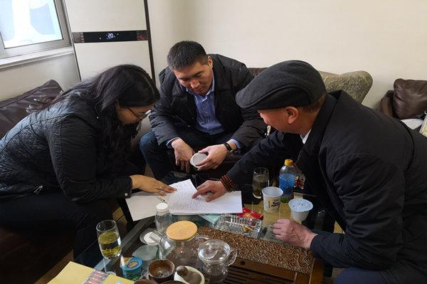 蒙古国的客户来公司考察乳品加工设备并订购设备