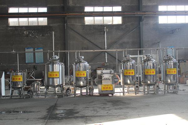 西藏酸奶生产线调试完成准备发货