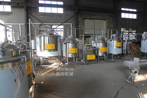 牛奶生產(chan)線設備