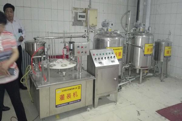 北京农干部牛奶生产线