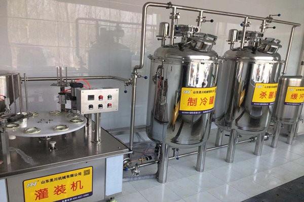 衡(heng)水優鮮乳(ru)業牛(niu)奶生產線